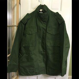 """NWOT Dark green jacket """"surplus""""-like jacket/coat"""